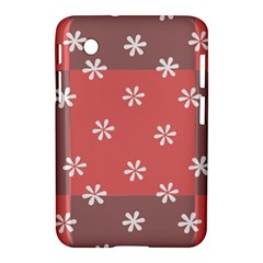 Seed Life Seamless Remix Flower Floral Red White Samsung Galaxy Tab 2 (7 ) P3100 Hardshell Case  by Mariart