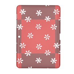 Seed Life Seamless Remix Flower Floral Red White Samsung Galaxy Tab 2 (10 1 ) P5100 Hardshell Case  by Mariart