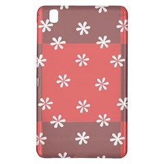 Seed Life Seamless Remix Flower Floral Red White Samsung Galaxy Tab Pro 8 4 Hardshell Case by Mariart