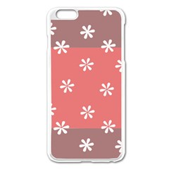 Seed Life Seamless Remix Flower Floral Red White Apple Iphone 6 Plus/6s Plus Enamel White Case by Mariart