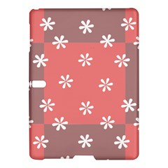 Seed Life Seamless Remix Flower Floral Red White Samsung Galaxy Tab S (10 5 ) Hardshell Case  by Mariart