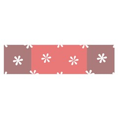 Seed Life Seamless Remix Flower Floral Red White Satin Scarf (oblong) by Mariart