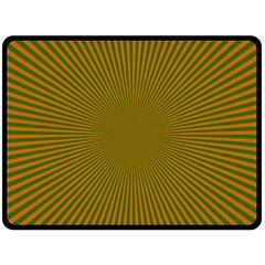 Stripy Starburst Effect Light Orange Green Line Double Sided Fleece Blanket (large)  by Mariart