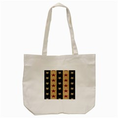 Stars Stripes Grey Blue Tote Bag (cream) by Mariart