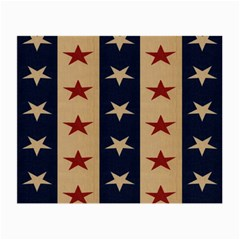 Stars Stripes Grey Blue Small Glasses Cloth by Mariart