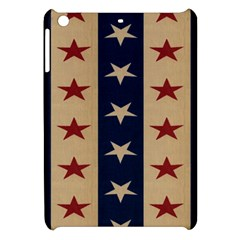 Stars Stripes Grey Blue Apple Ipad Mini Hardshell Case by Mariart