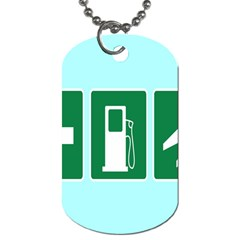 Traffic Signs Hospitals, Airplanes, Petrol Stations Dog Tag (two Sides) by Mariart