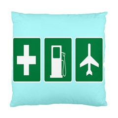 Traffic Signs Hospitals, Airplanes, Petrol Stations Standard Cushion Case (one Side) by Mariart