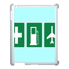 Traffic Signs Hospitals, Airplanes, Petrol Stations Apple Ipad 3/4 Case (white) by Mariart