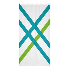 Symbol X Blue Green Sign Shower Curtain 36  X 72  (stall)  by Mariart