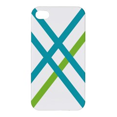 Symbol X Blue Green Sign Apple Iphone 4/4s Hardshell Case by Mariart