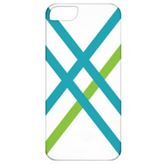 Symbol X Blue Green Sign Apple Iphone 5 Classic Hardshell Case by Mariart