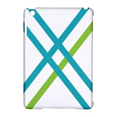 Symbol X Blue Green Sign Apple Ipad Mini Hardshell Case (compatible With Smart Cover) by Mariart