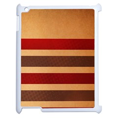 Vintage Striped Polka Dot Red Brown Apple Ipad 2 Case (white) by Mariart
