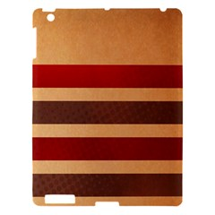 Vintage Striped Polka Dot Red Brown Apple Ipad 3/4 Hardshell Case by Mariart