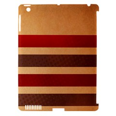 Vintage Striped Polka Dot Red Brown Apple Ipad 3/4 Hardshell Case (compatible With Smart Cover) by Mariart
