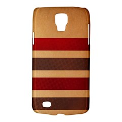 Vintage Striped Polka Dot Red Brown Galaxy S4 Active by Mariart