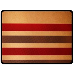 Vintage Striped Polka Dot Red Brown Double Sided Fleece Blanket (large)  by Mariart
