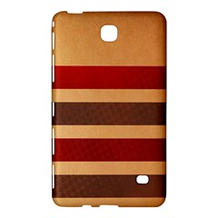 Vintage Striped Polka Dot Red Brown Samsung Galaxy Tab 4 (8 ) Hardshell Case  by Mariart