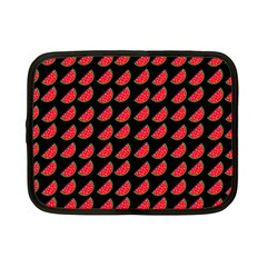 Watermelon Slice Red Black Fruite Netbook Case (small)  by Mariart