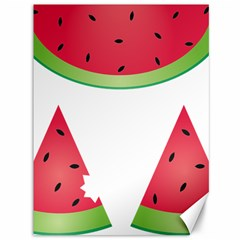 Watermelon Slice Red Green Fruite Canvas 36  X 48   by Mariart