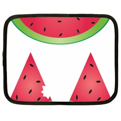 Watermelon Slice Red Green Fruite Netbook Case (large) by Mariart