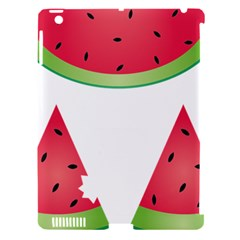 Watermelon Slice Red Green Fruite Apple Ipad 3/4 Hardshell Case (compatible With Smart Cover) by Mariart