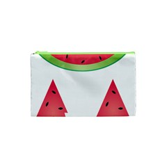 Watermelon Slice Red Green Fruite Cosmetic Bag (xs) by Mariart