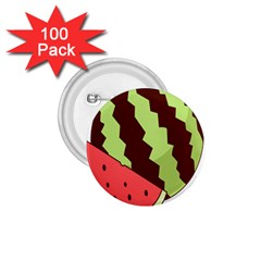 Watermelon Slice Red Green Fruite Circle 1 75  Buttons (100 Pack)  by Mariart