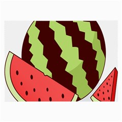 Watermelon Slice Red Green Fruite Circle Large Glasses Cloth by Mariart