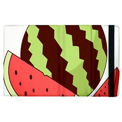 Watermelon Slice Red Green Fruite Circle Apple Ipad 3/4 Flip Case by Mariart