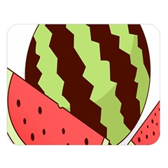 Watermelon Slice Red Green Fruite Circle Double Sided Flano Blanket (large)  by Mariart