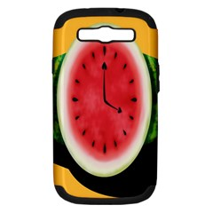Watermelon Slice Red Orange Green Black Fruite Time Samsung Galaxy S Iii Hardshell Case (pc+silicone) by Mariart