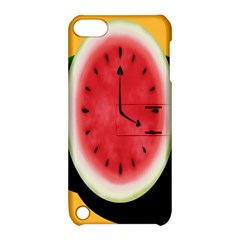 Watermelon Slice Red Orange Green Black Fruite Time Apple Ipod Touch 5 Hardshell Case With Stand by Mariart