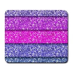 Violet Girly Glitter Pink Blue Large Mousepads by Mariart