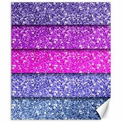 Violet Girly Glitter Pink Blue Canvas 20  X 24   by Mariart