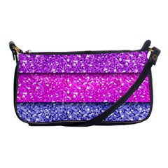 Violet Girly Glitter Pink Blue Shoulder Clutch Bags by Mariart