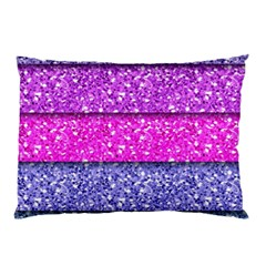 Violet Girly Glitter Pink Blue Pillow Case (two Sides) by Mariart