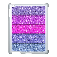 Violet Girly Glitter Pink Blue Apple Ipad 3/4 Case (white) by Mariart