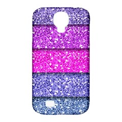 Violet Girly Glitter Pink Blue Samsung Galaxy S4 Classic Hardshell Case (pc+silicone) by Mariart