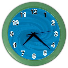 Whirlpool Hole Wave Blue Waves Sea Color Wall Clocks by Mariart