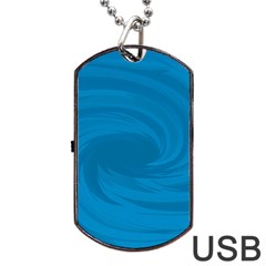 Whirlpool Hole Wave Blue Waves Sea Dog Tag Usb Flash (one Side) by Mariart