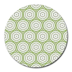 Wood Star Green Circle Round Mousepads by Mariart