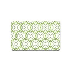 Wood Star Green Circle Magnet (name Card) by Mariart