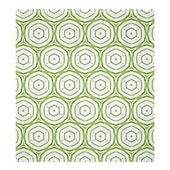 Wood Star Green Circle Shower Curtain 66  X 72  (large)  by Mariart