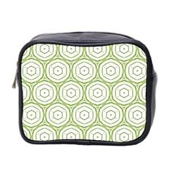 Wood Star Green Circle Mini Toiletries Bag 2 Side by Mariart