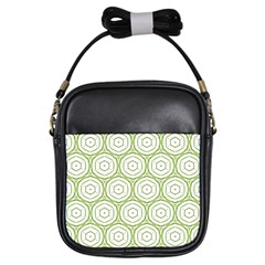 Wood Star Green Circle Girls Sling Bags by Mariart