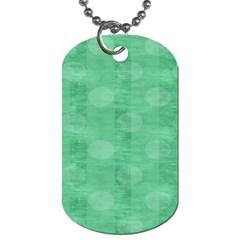 Polka Dot Scrapbook Paper Digital Green Dog Tag (two Sides) by Mariart