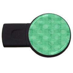 Polka Dot Scrapbook Paper Digital Green Usb Flash Drive Round (4 Gb) by Mariart