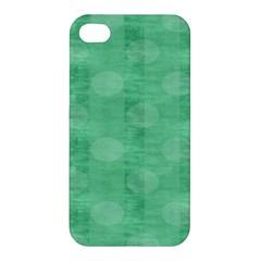 Polka Dot Scrapbook Paper Digital Green Apple Iphone 4/4s Premium Hardshell Case by Mariart